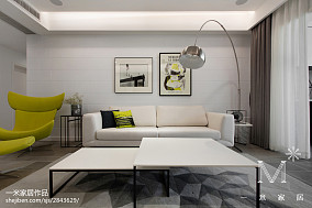 2018精选大小109平现代三居客厅装修实景图片欣赏