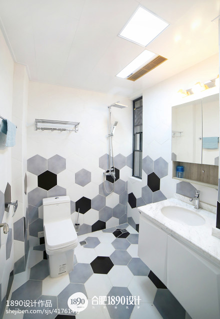 热门三居卫生间北欧装修设计效果图片欣赏卫生间