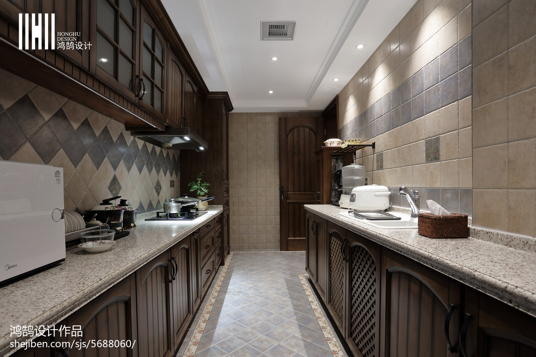 2018面积105平简欧三居厨房装修图片欣赏餐厅北欧极简厨房设计图片赏析