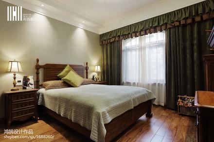 热门92平米三居卧室简欧装修实景图片欣赏