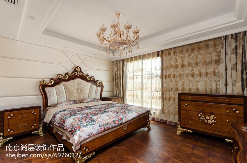 家居新古典风格卧室效果图卧室美式经典卧室设计图片赏析
