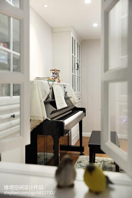精美面积108平美式三居休闲区装修实景图片功能区
