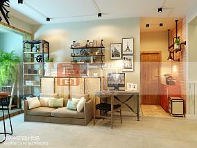 家装美式客厅样板间