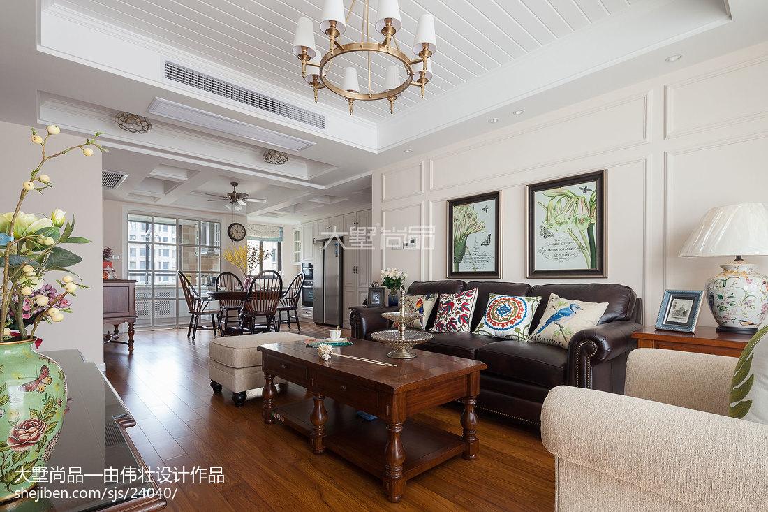 热门90平方三居客厅美式装修图客厅木地板美式经典客厅设计图片赏析