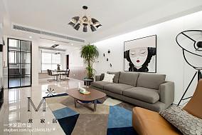 面积75平北欧二居客厅欣赏图片大全二居北欧极简家装装修案例效果图