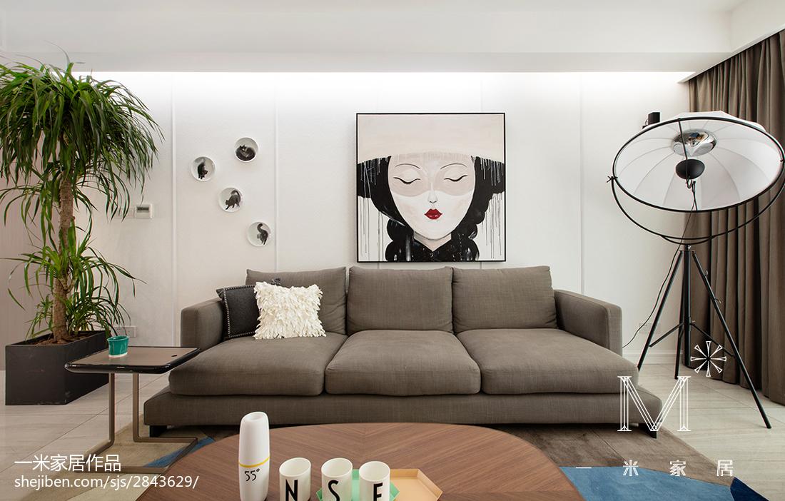 精选81平米二居客厅北欧效果图二居北欧极简家装装修案例效果图