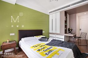 精美71平米二居卧室北欧效果图片二居北欧极简家装装修案例效果图