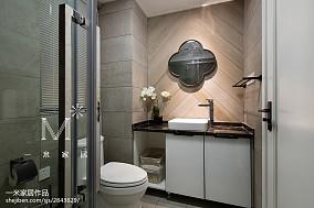 精选85平米二居卫生间北欧装修效果图片欣赏二居北欧极简家装装修案例效果图