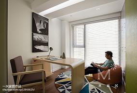 热门北欧二居书房装修效果图片大全二居北欧极简家装装修案例效果图
