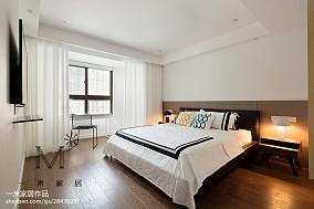 平米二居卧室北欧实景图片欣赏二居北欧极简家装装修案例效果图
