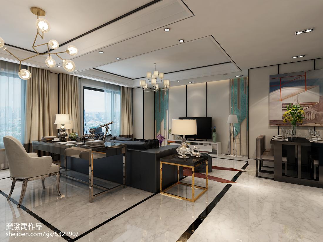 家装现代风格吊顶设计图功能区窗帘现代简约功能区设计图片赏析