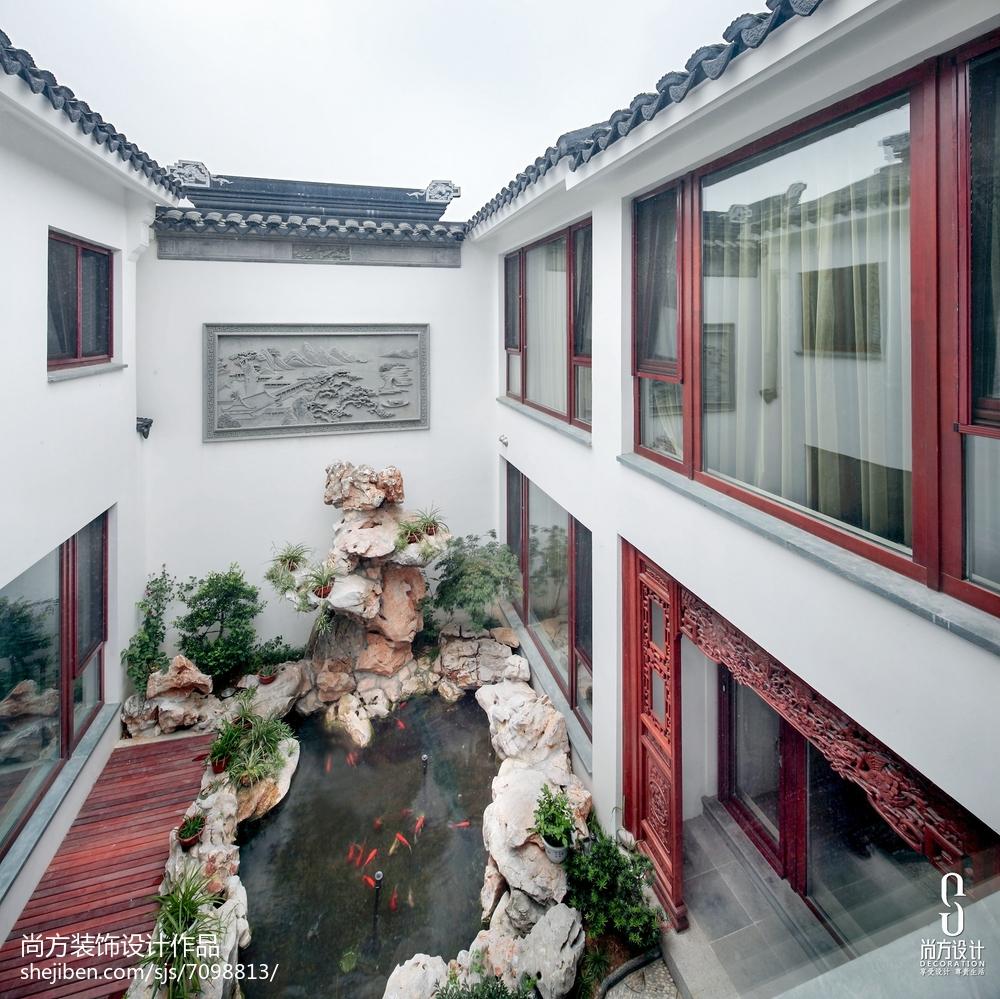 中式别墅花园欣赏图片大全