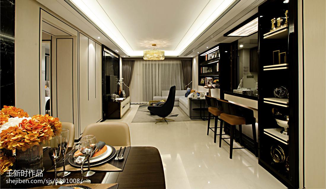 时尚混搭风格吊顶装修案例客厅潮流混搭客厅设计图片赏析