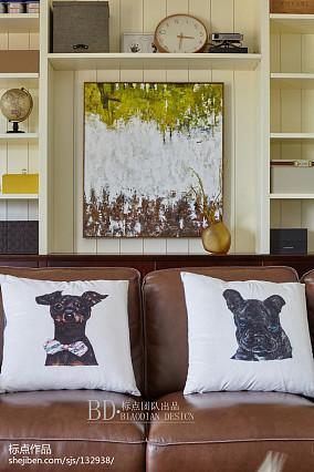 轻奢94平北欧四居客厅美图四居及以上北欧极简家装装修案例效果图