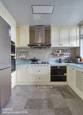 典雅109平北欧四居厨房装修美图四居及以上北欧极简家装装修案例效果图