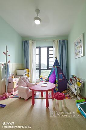 精致131平北欧四居儿童房设计案例四居及以上北欧极简家装装修案例效果图