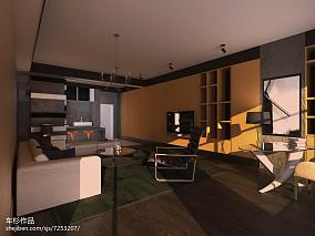 85平米现代小户型客厅装修效果图
