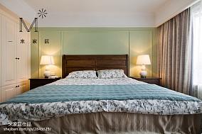 2018精选美式二居卧室装修图二居美式经典家装装修案例效果图