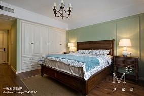 2018美式二居卧室装修实景图片二居美式经典家装装修案例效果图