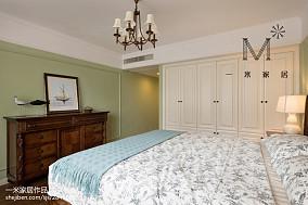 精选二居卧室美式欣赏图片大全二居美式经典家装装修案例效果图
