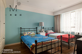 乡村美式格调儿童房设计二居美式经典家装装修案例效果图