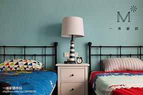 精美面积90平美式二居儿童房装修欣赏图二居美式经典家装装修案例效果图