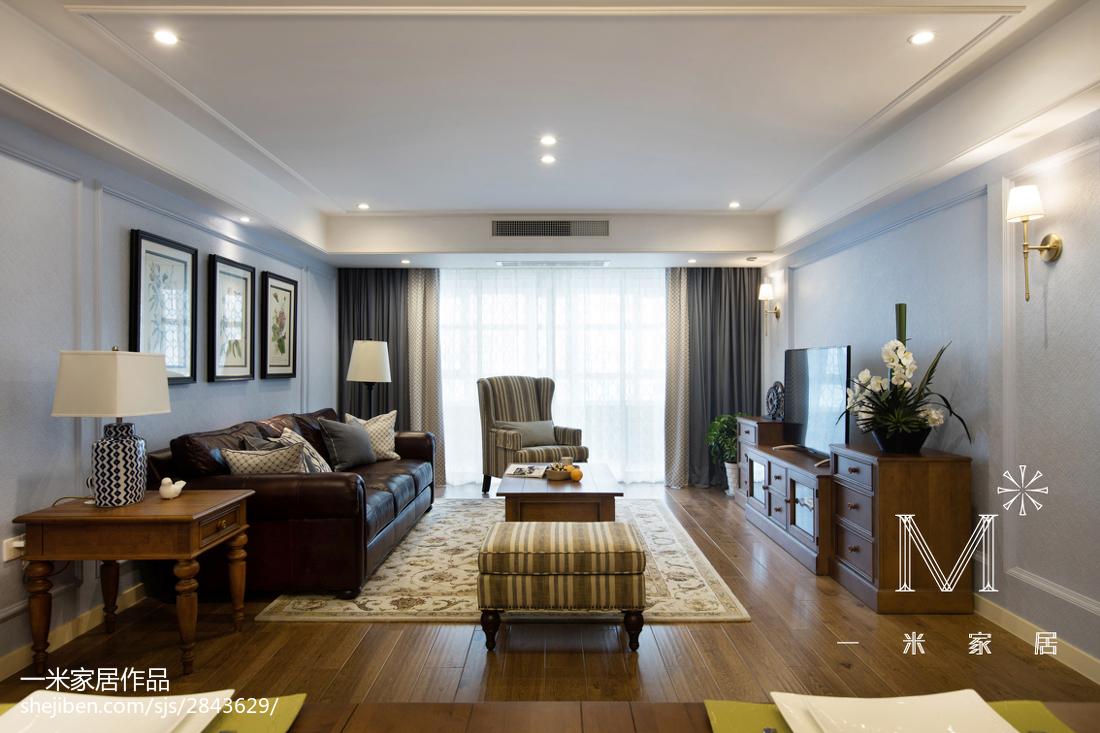 平美式二居设计案例二居美式经典家装装修案例效果图