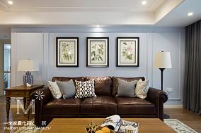 2018精选90平米二居客厅美式装修效果图片欣赏二居美式经典家装装修案例效果图