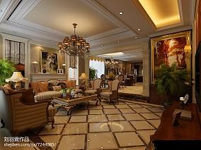 大气小别墅楼梯在客厅图片