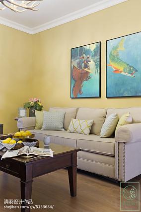 简洁88平美式三居客厅设计美图