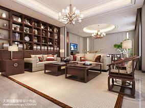 精美中式别墅客厅装饰图