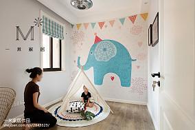 华丽86平北欧二居儿童房案例图二居北欧极简家装装修案例效果图