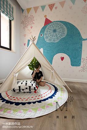 面积84平北欧二居儿童房装饰图片欣赏二居北欧极简家装装修案例效果图