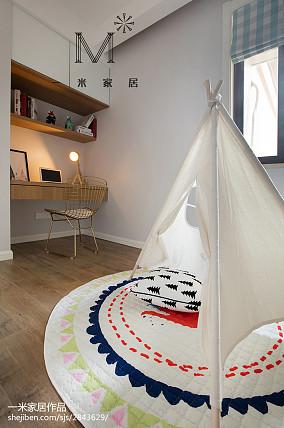 精美面积76平北欧二居儿童房装修图二居北欧极简家装装修案例效果图
