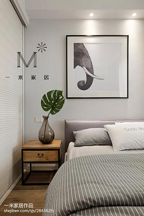 平米二居卧室北欧实景图二居北欧极简家装装修案例效果图