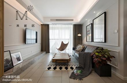 精选86平米二居客厅北欧设计效果图