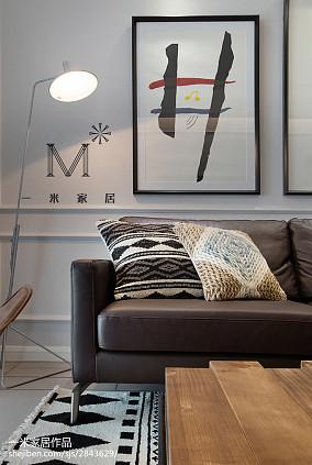 2018精选71平米二居客厅北欧装修欣赏图片二居北欧极简家装装修案例效果图