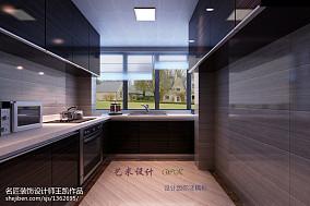 精美111平米现代复式厨房装修设计效果图片欣赏