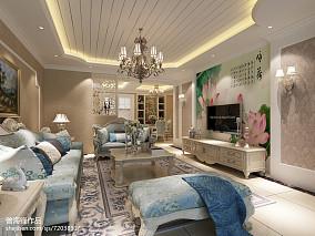 精美面积103平简欧三居客厅效果图片