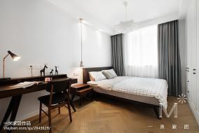 2018二居卧室北欧欣赏图二居北欧极简家装装修案例效果图