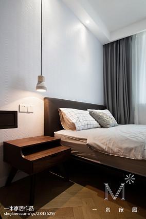 精选二居卧室北欧效果图片大全二居北欧极简家装装修案例效果图