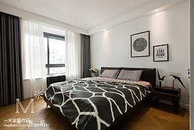华丽52平北欧二居卧室图片欣赏二居北欧极简家装装修案例效果图