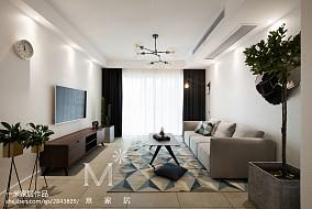 精美90平北欧二居客厅美图二居北欧极简家装装修案例效果图
