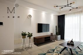 家居北欧风格背景墙装修图二居北欧极简家装装修案例效果图