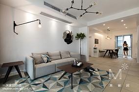 精选二居客厅北欧装饰图片二居北欧极简家装装修案例效果图