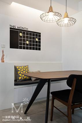 2018精选面积77平北欧二居餐厅实景图片二居北欧极简家装装修案例效果图