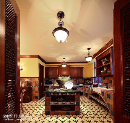 精选美式别墅厨房欣赏图片大全餐厅