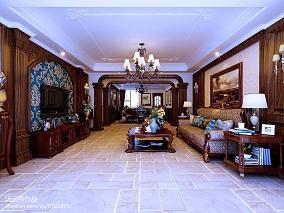 大小111平美式四居客厅欣赏图片