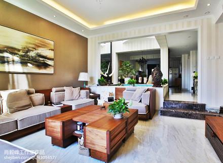精美大小138平别墅客厅混搭装修设计效果图片大全