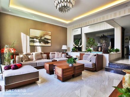 热门124平方混搭别墅客厅欣赏图别墅豪宅潮流混搭家装装修案例效果图